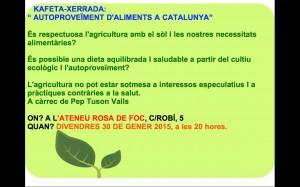 Kafeta-Xerrada Autoproveïment d'Aliments a Catalunya - 30 de gener