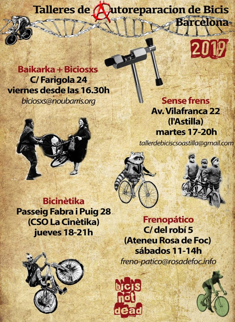 2019 talleres bicicletas autogestionados barna - bike kitchen barcelona